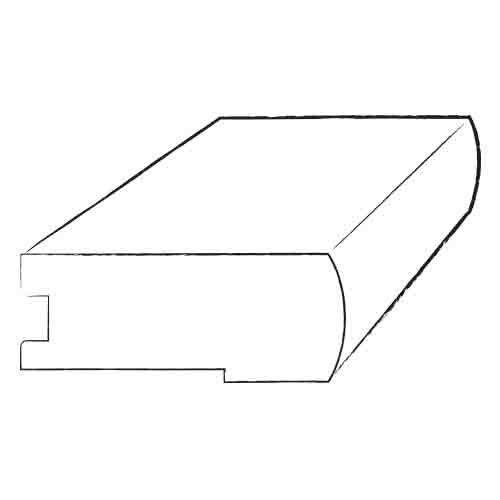 """Armstrong 0.75"""" x 3.13"""" Birch Stair Nose in Ivory"""