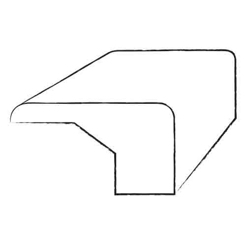 """Armstrong 0.81"""" x 3.13"""" Birch Stair Nose Overlap in Acorn"""