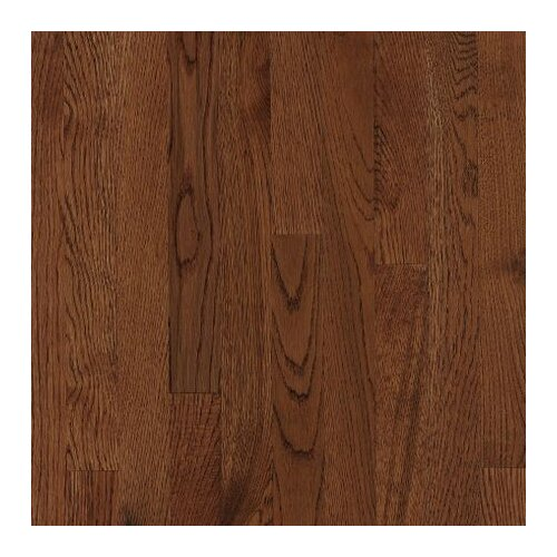 """Armstrong Kingsford Strip 2-1/4"""" Solid White Oak Flooring in Coffee"""