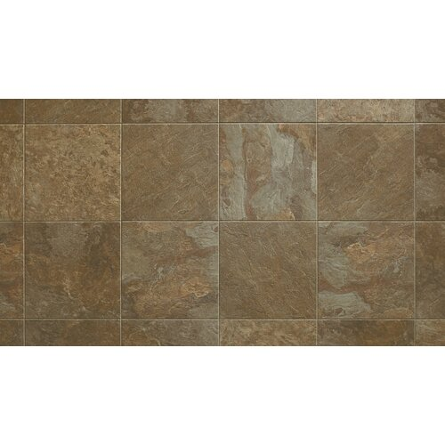 "Armstrong Alterna Reserve Moselle Valley 16"" x 16"" Vinyl Tile in Forest Green/Copper"