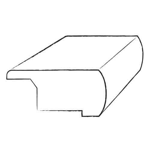 "Bruce Flooring 0.69"" x 3.13"" Kempas Stair Nose Overlap in Natural"