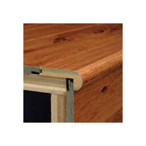 Bruce Flooring Laminate Flush Beveled Stair Nose in Ironwood-Natural
