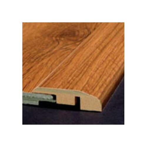 Laminate Reducer Strip with Track in Mocha Maple