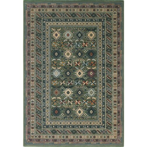 Central Oriental Images Geometric Seagreen Rug