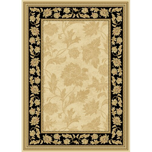 Central Oriental Radiance Francesca Wheat/Black Rug