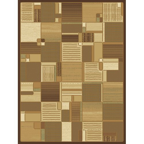 Central Oriental Shadows Bastille Brown Rug