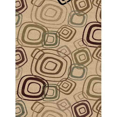 Encore Lucky Squares Cream Rug