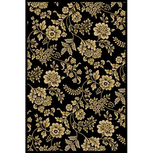 Central Oriental Interlude Juniper Black Rug