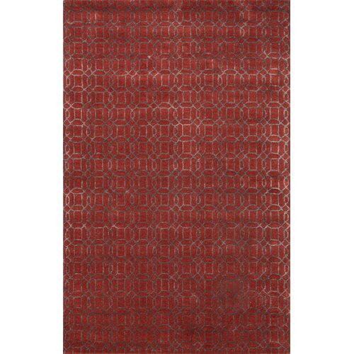 Baroque Red/Gray Geometric Rug