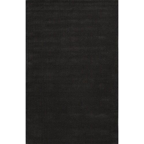 Metro Black Solid Rug