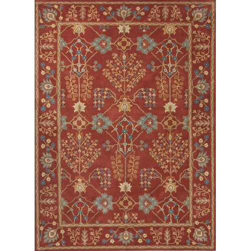 Poeme Red/Blue Arts and Craft Rug