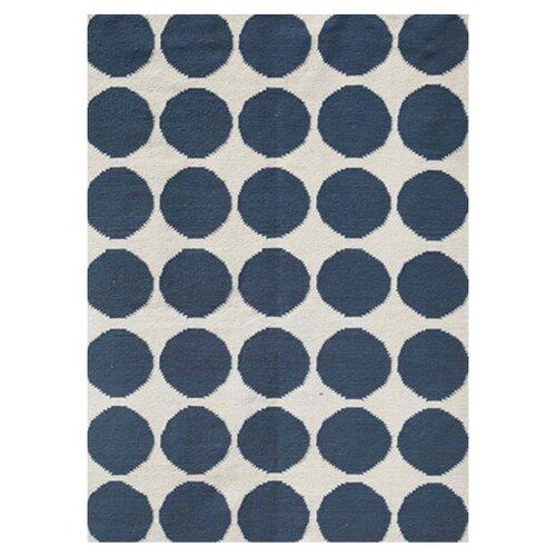 Jaipur Rugs Maroc White/Dark Denim Geometric Rug