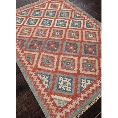 Jaipur Rugs Anatolia Burnt Brick/Medium Blue Tribal Rug