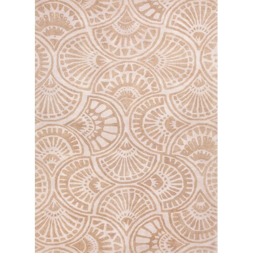 Blue Antique White/Beige Geometric Rug