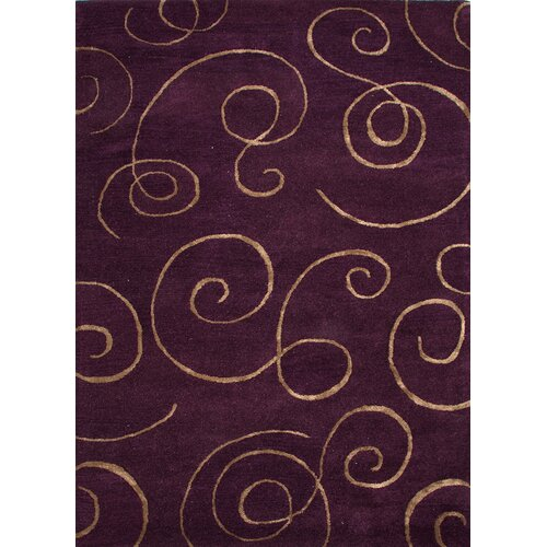 Baroque Tulip Purple Abstract Rug