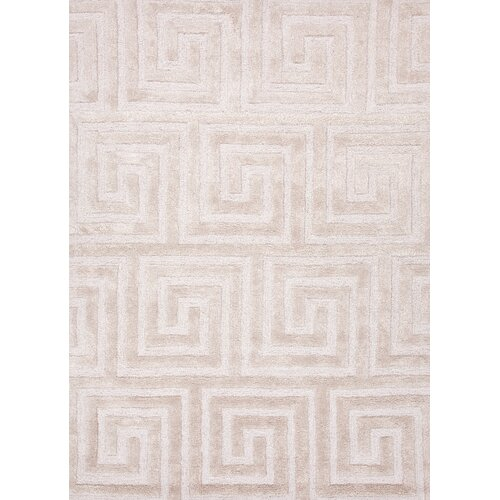 City Dark Ivory Geometric Rug