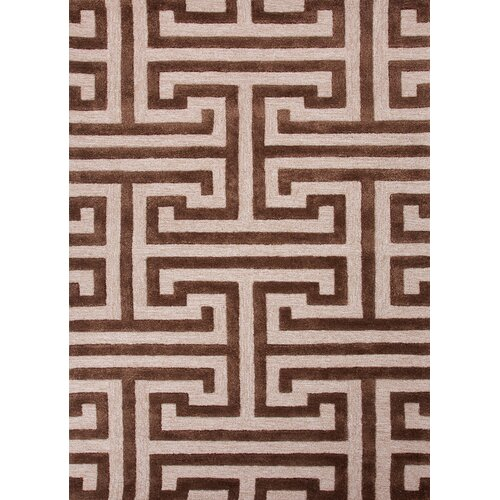 Midtown by Raymond Waites Beige/Brown Geometric Rug