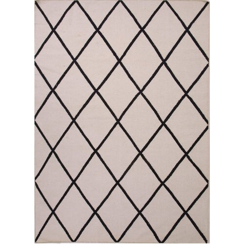 Jaipur Rugs Maroc Antique White/Ebony Geometric Rug