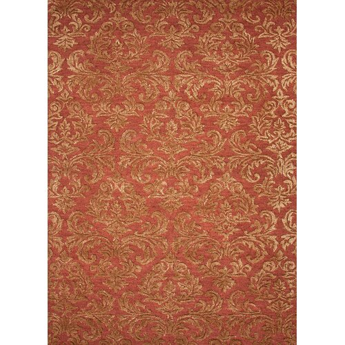 Roccoco Red/Orange Floral Rug