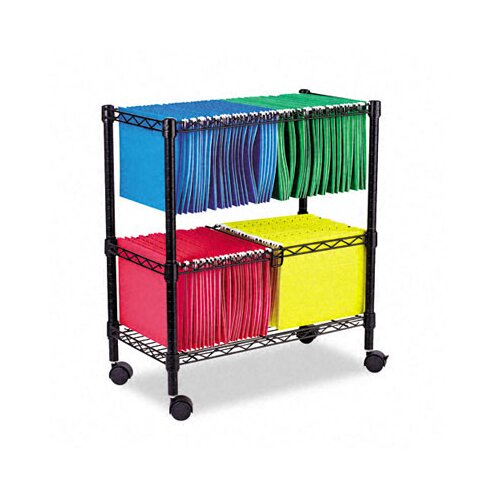 "Alera® 29.5"" 2-Tier Rolling File Cart"