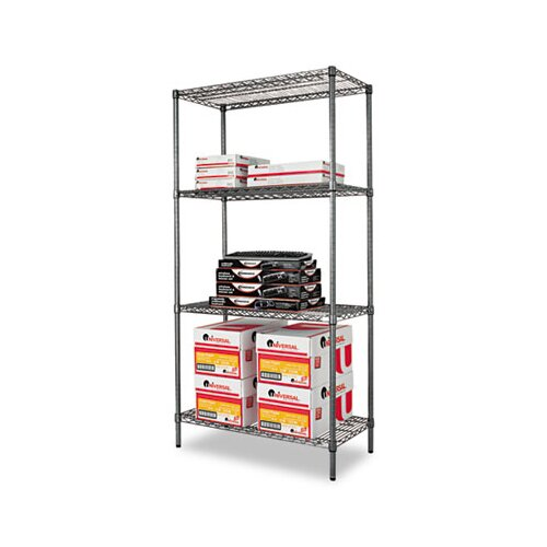 "Alera® Industrial Wire 72"" H 4 Shelf Shelving Unit Starter"