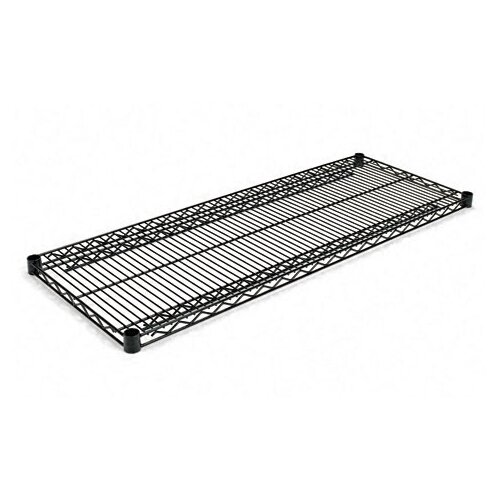 """Alera® Two-Shelve 48"""" W x 18"""" D Wire Shelving Extra Shelves in Black"""
