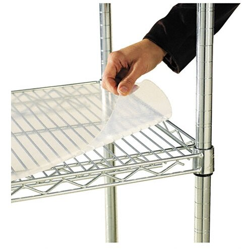 "Alera® 36"" W x 18"" D Shelf Liners for Wire Shelving in Clear Plastic"