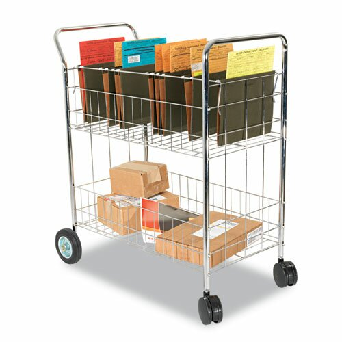 "Alera® 39.5"" Wire Mail Cart"