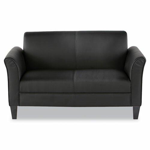 Alera® Leather Reception Lounge Loveseat