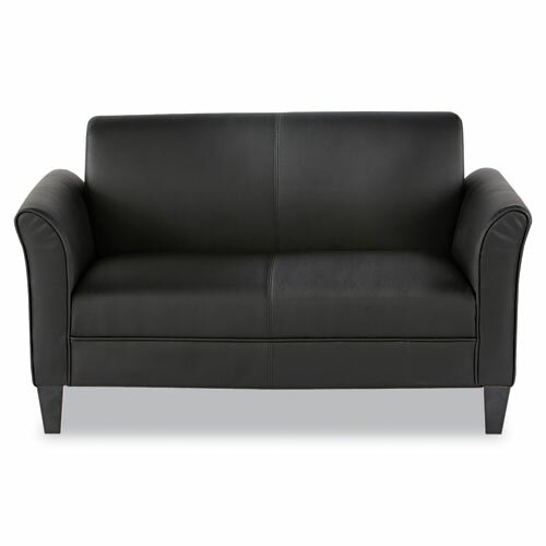 Alera® Leather Reception Lounge Loveseat