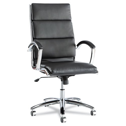 Alera® High-Back Soft-Touch Leather Neratoli Slim Profile Office Chair