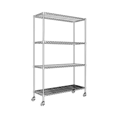 "Alera® Complete Wire 72"" H 4 Shelf Shelving Unit"