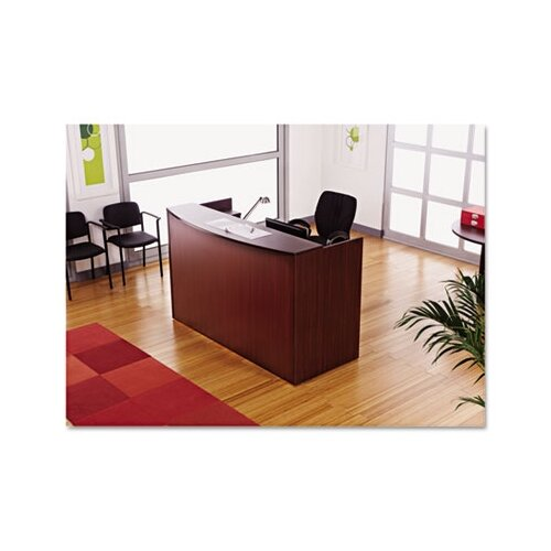 Alera® Valencia Series Reception Desk with Transaction Counter