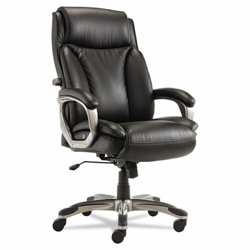 Alera® Veon Series High-Back Leather Executive Chair with Coil Spring Cushioning