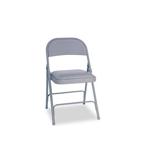 Alera® Steel Folding Chair with Padded Seat
