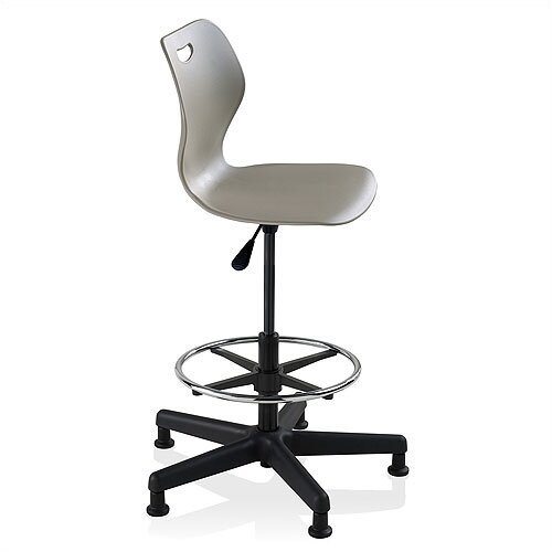 KI Furniture Height Adjustable Wave Stool with Footring