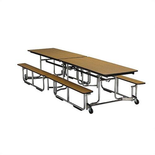 KI Furniture 12' Uniframe Bench Table in Brighton Walnut