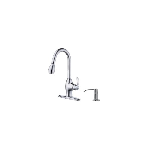 Artisan Sinks Prime Kitchen One Handle Centerset Kitchen Faucet with Soap Dispenser
