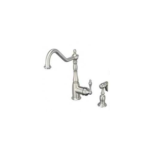 "Artisan Sinks 13.38"" One Handle Single Hole Kitchen Faucet"