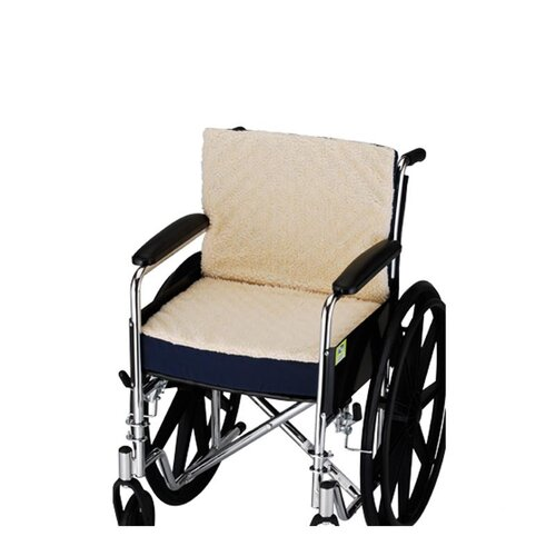 "Nova Ortho-Med, Inc. 3"" Convoluted Seat and Back Foam Cushion with Cover for 18"" X 16"" Wheelchair"