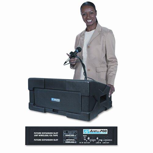 AmpliVox Sound Systems Ampli-pod Portable Podium PA System 50 Watt Lectern PA