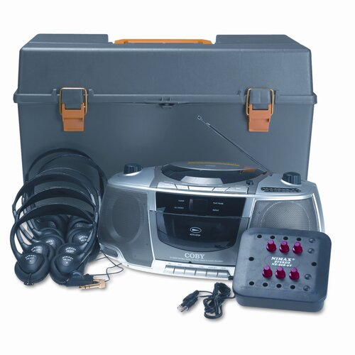 AmpliVox Sound Systems Personal Six-Station Listening Center, Gray