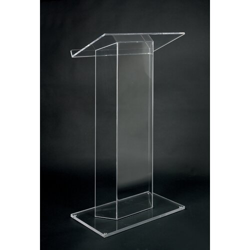 AmpliVox Sound Systems Clear Acrylic Full Podium