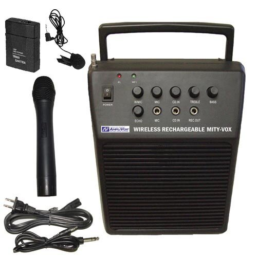 AmpliVox Sound Systems Wireless Rechargeable Mity-Vox 20 Watt PA System
