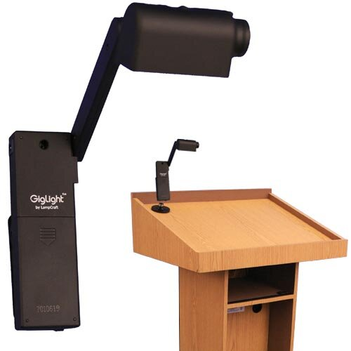 "AmpliVox Sound Systems Clip-on Gig 43"" H Table Lamp"