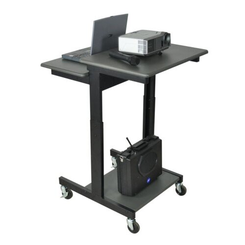 AmpliVox Sound Systems Mobile Single Person Computer Desk