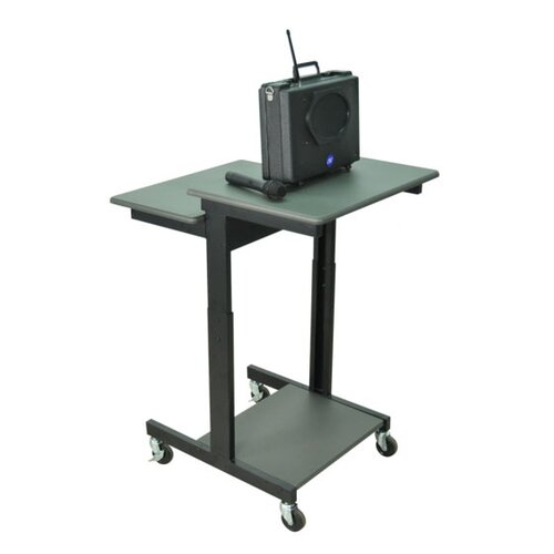 AmpliVox Sound Systems Mobile Single Person Computer Desk