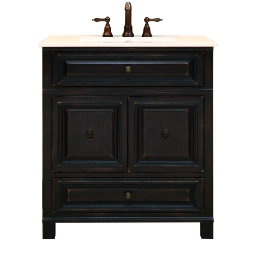 Sunny Wood Barton Hill 30quot; Bathroom Vanity Base