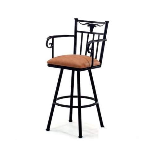 "Tempo Longhorn 26"" Bar Stool with Cushion"