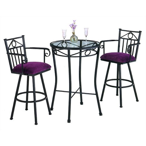 Tempo Seville 3 Piece Counter Height Pub Table Set